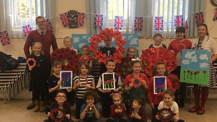 Armistice Red, White and Blue day at Glemsfofrd Primary Academy. Picture: GLEMSFORD ACADEMY