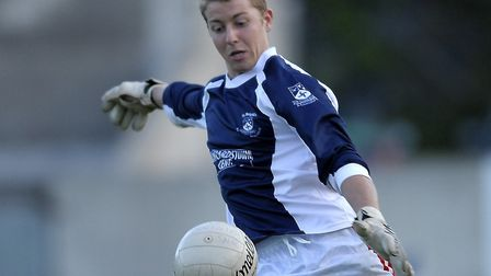Supple, pictured playing Gaelic Football in Ireland. Picture: Caroline Quinn