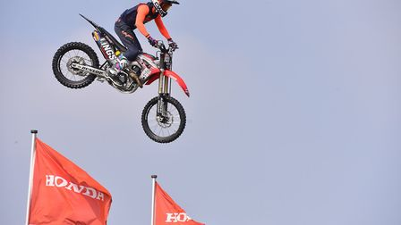 The Bolddog Lings FMX Display Team in the Grand Ring at the 2018 Suffolk Show. The Show is a highlig