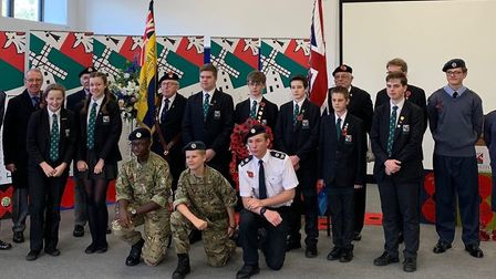 Remembrance Day commemorations were held at Ixworth Free School Picture: IXWORTH FREE SCHOOL