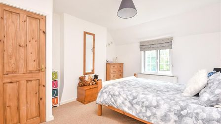 One of the double bedrooms Fornham Road Farm Picture: BEDFORDS