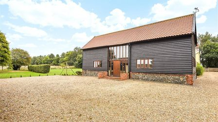 The renovated barn/ office area at Fornham Road Farm Picture: BEDFORDS