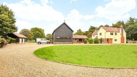 The drive way at Fornham Road Farm Picture: BEDFORDS