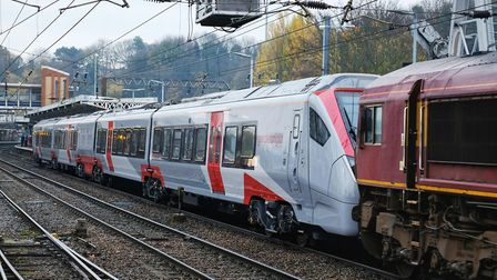 The new Stadler unit was pulled through to Norwich - it was not able to travel under its own power.
