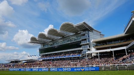 The Rowley Mile Millennium Grandstand and crowds at the QIPCO Guineas Festival 2016 (c) Newmarket Ra