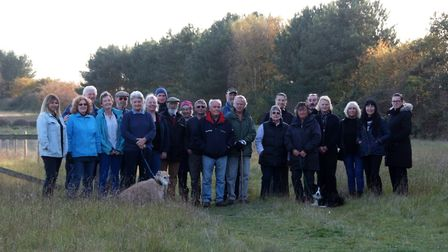 Members of the Save Our Sandlings group, pictured at the AONB site where a substation could be built