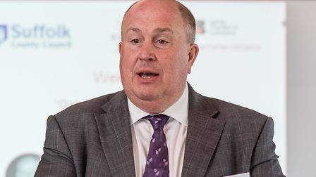 Colin Noble also signed the letter in May, when he was Suffolk County Council leader Picture: CHRIS