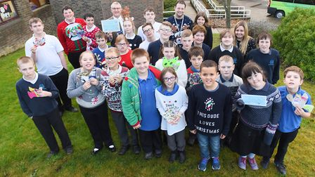 Priory School were awarded the top prize in a Suffolk Waste Partnership Christmas recycling project