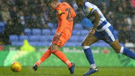 Freddie Sears slots home Ipswich's second goal at Reading. Photo: Pagepix