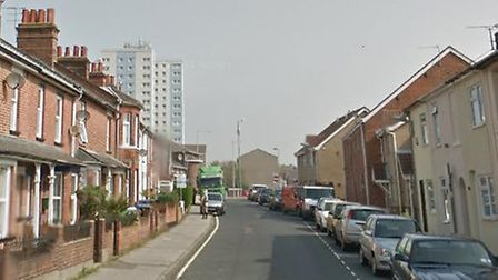 The incident happened in Tennyson Road, Lowestoft Picture: GOOGLE MAPS
