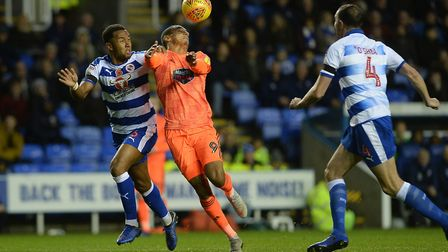 Kayden Jackson battles at Reading Picture Pagepix