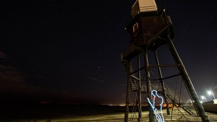 """""""Tommy"""" at the Victorian lighthouse at Dovercourt. Picture: KEVIN JAY"""
