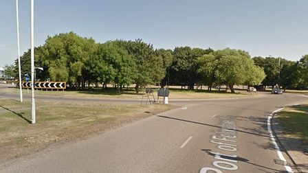 Police are at the scene of a serious crash on the A14 near Felixstowe Picture: GOOGLE MAPS