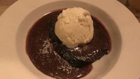 Chocolate fudge cake at The Station Hotel, Framlingham PICTURE: Archant