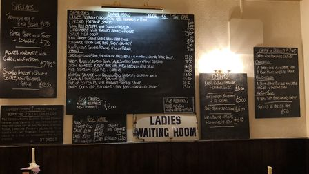 The menu at The Station Hotel, Framlingham PICTURE: Archant