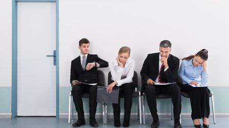 People wait for job interview