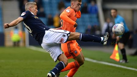 Lankester played again for the Blues at Millwall. Picture: PAGEPIX