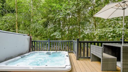 Woolverstone Marina Lodge hot tub. Picture: maa.agency