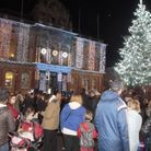 Ipswich Christmas Lights Switch on from Cornhill Square.Picture:NIGE BROWN