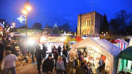 The Bury St Edmunds Christmas Fayre. Picture: GREGG BROWN