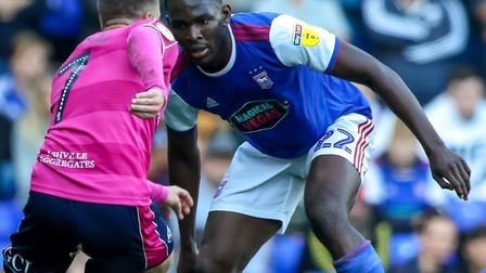Toto Nsiala, pictured in action against Queens Park Rangers. Picture: STEVE WALLER WWW.STEPHE
