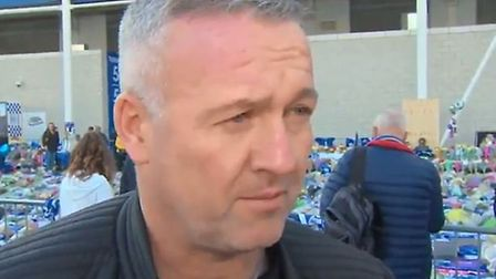 New Ipswich Town manager Paul Lambert was at Leicester City today to pay his tributes to those who l