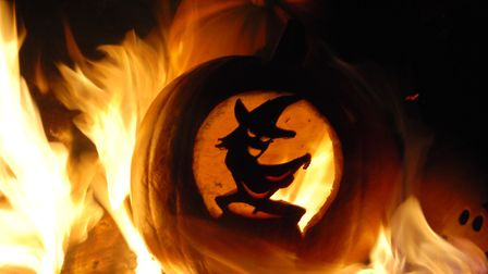 Halloween and Bonfire night as one in Knodishall (2012). Picture: Ruby Chapman