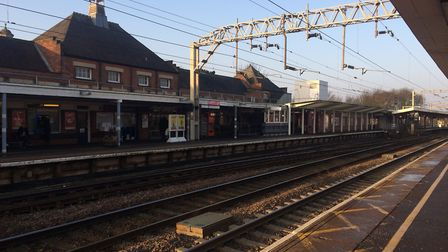 Trains travelling through Colchester station are disrupted Picture: NATALIE SADLER