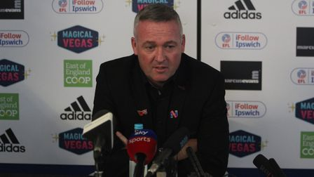 Paul Lambert meets with local and national press for the first time as Town boss. Picture: ROSS HALL