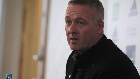 Paul Lambert speaks to the press as he is unveiled as new Ipswich Town manager Picture: ROSS HALLS