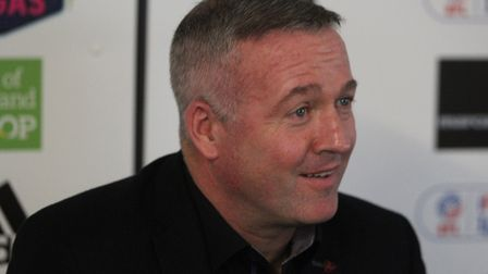 New Ipswich Town manager Paul Lambert meets the media this morning Picture: ROSS HALLS