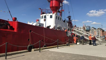 The lightship moored on the Ipswich waterfront Picture: ARCHANT