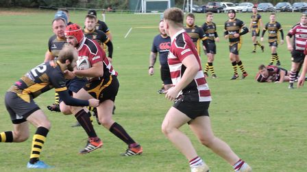 Hadleigh on their way to victory over Ipswich. Picture: NEIL FARROW