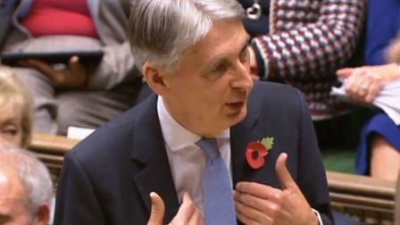 Chancellor of the Exchequer Philip Hammond making his Budget statement to MPs in the House of Common