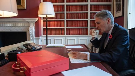 Chancellor of the exchequer Philip Hammond in his office in Downing Street Picture: CHRIS J RATCLIFF
