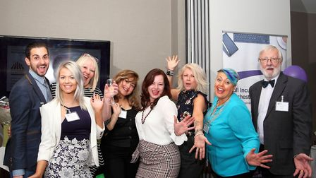 The teamof COLBEA at Wivenhoe House, Colchester to announce winners of �In the Market for Success� c