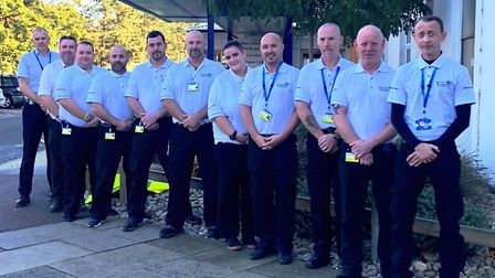 The new RPI security team is unveiled at West Suffolk Hospital Picture: WEST SUFFOLK HOSPITAL