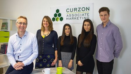 Curzon Marketing, of Woodbridge, is on the move to larger offices Steve Curzon, Jane Curzon, Ellie