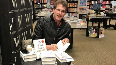 Dan Snow signed copies of his new book On This Day in History Picture: AMY GIBBONS
