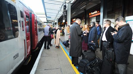 Passengers are delayed due to a police incident on the line betweeen Ipswich and Cambidge (stock ima