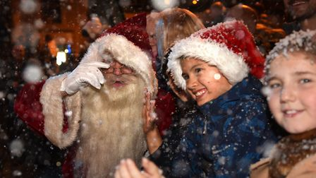 Children got to see Santa in the snow Picture: SARAH LUCY BROWN