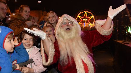 Santa arrives in town Picture: SARAH LUCY BROWN