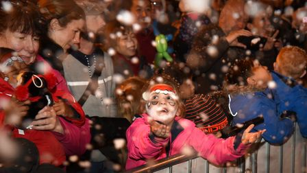 Hundreds of people got into the festive spirit for the Christmas lights switch on Picture: SARAH L