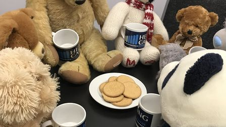 Teddies gather for a well-deserved tea break Picture: THE HEARING CARE CENTRE