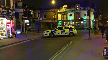 Police closed the road to make sure the area was safe Picture: MEGAN ALDOUS