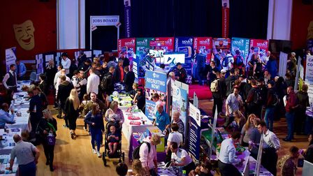 Job offers and interviews from the 2018 Tending Jobs Fair, at Clacton Town Hall. Picture: NANCY SWO