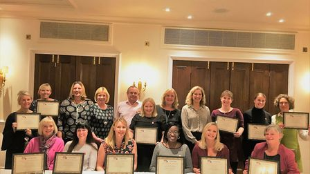 The proud graduates from the inaugural Fred. Olsen Women�s Leadership Network course receive their c