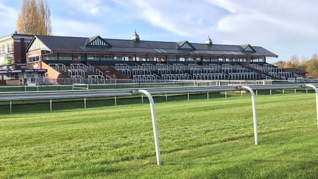 The Grandstand at Pontefract racecourse, an impressive backdrop for the Pontefract parkrun. Picture: