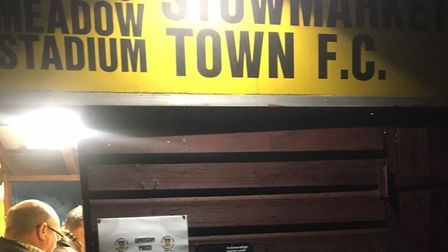 The turnstile at Greens Meadow on Tuesday night, through which a crowd of 266 entered for Stowmarket