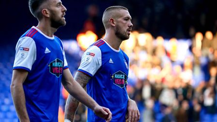 Cole Skuse and Luke Chambers reflect on the 2-0 hoem defeat to QPR. Photo: Steve Waller
